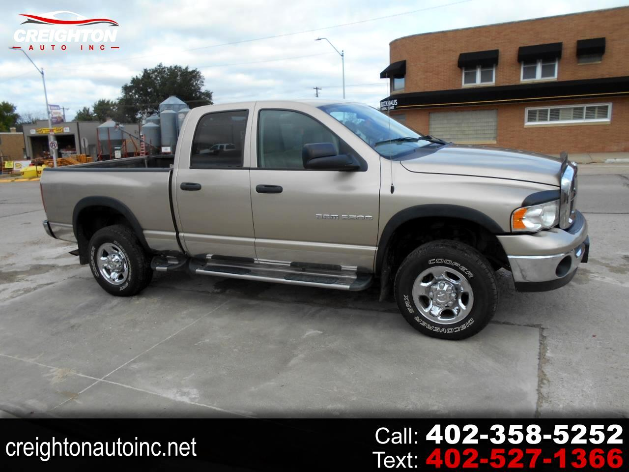 Dodge Ram 2500 ST Quad Cab Short Bed 4WD 2003