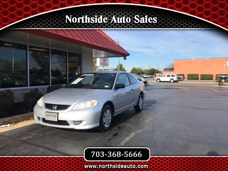 2005 Honda Civic VP Coupe AT w/ Front Side Airbags
