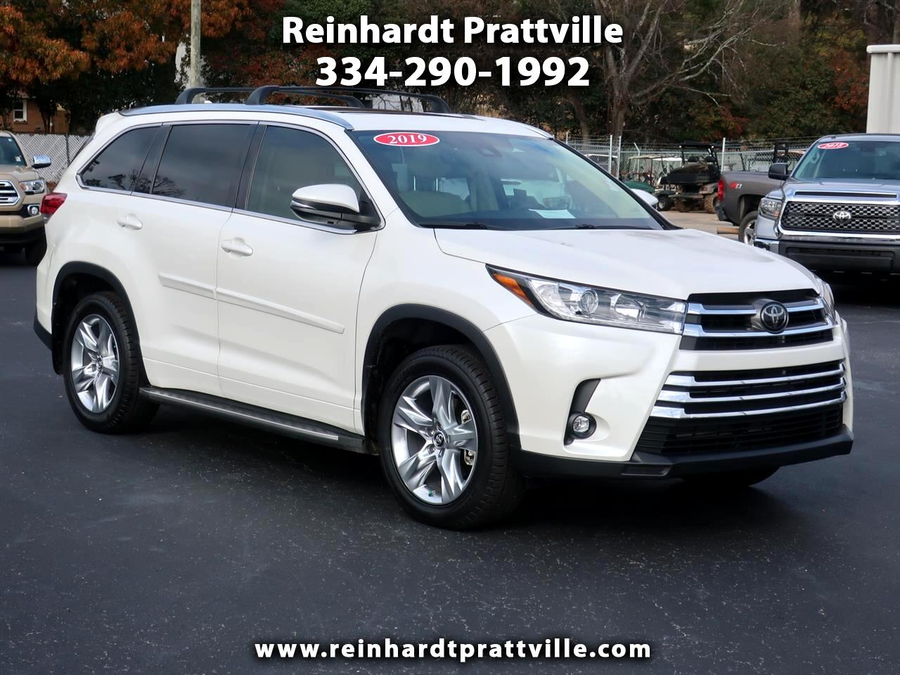 Toyota Highlander Limited V6 AWD (Natl) 2019