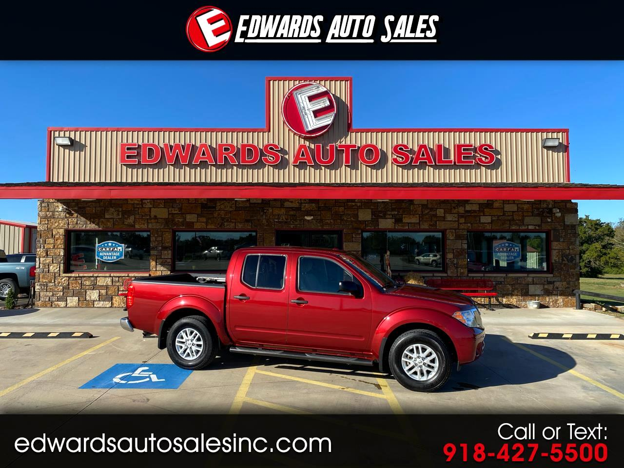 used 2016 nissan frontier 2wd crew cab swb auto sv for sale in roland ok 74954 edwards auto sales inc used 2016 nissan frontier 2wd crew cab