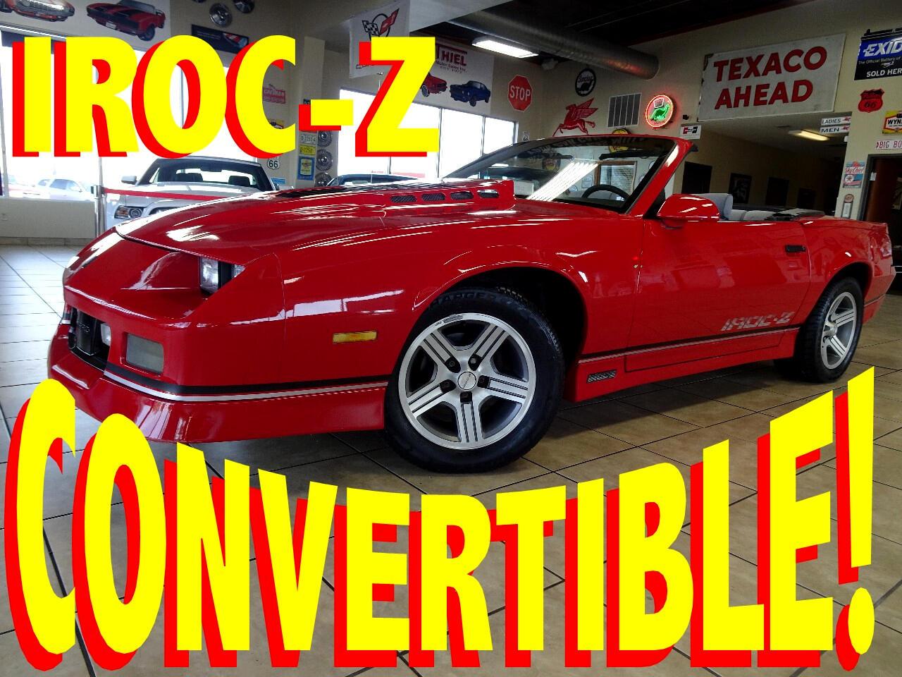 1988 Chevrolet Camaro IROC Z convertible