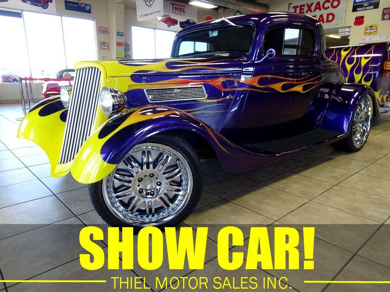 1934 Ford 3-Window Coupe & Matching Trailer