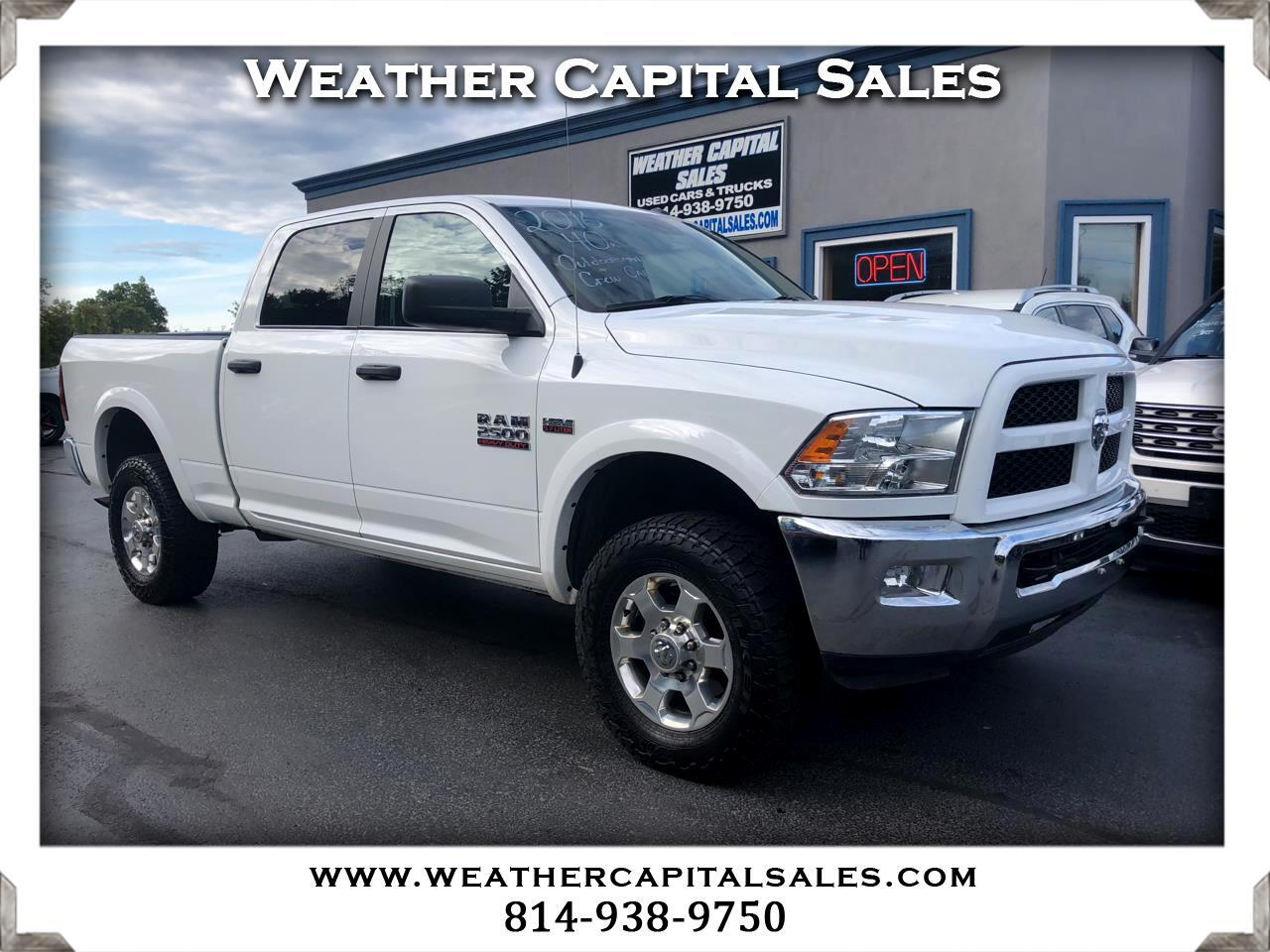 "2016 RAM 2500 Outdoorsman 4x4 Crew Cab 6'4"" Box"