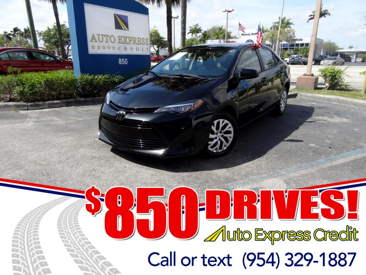 Used 2018 Toyota Corolla For Sale In Plantation FL 33317 Auto Express Credit