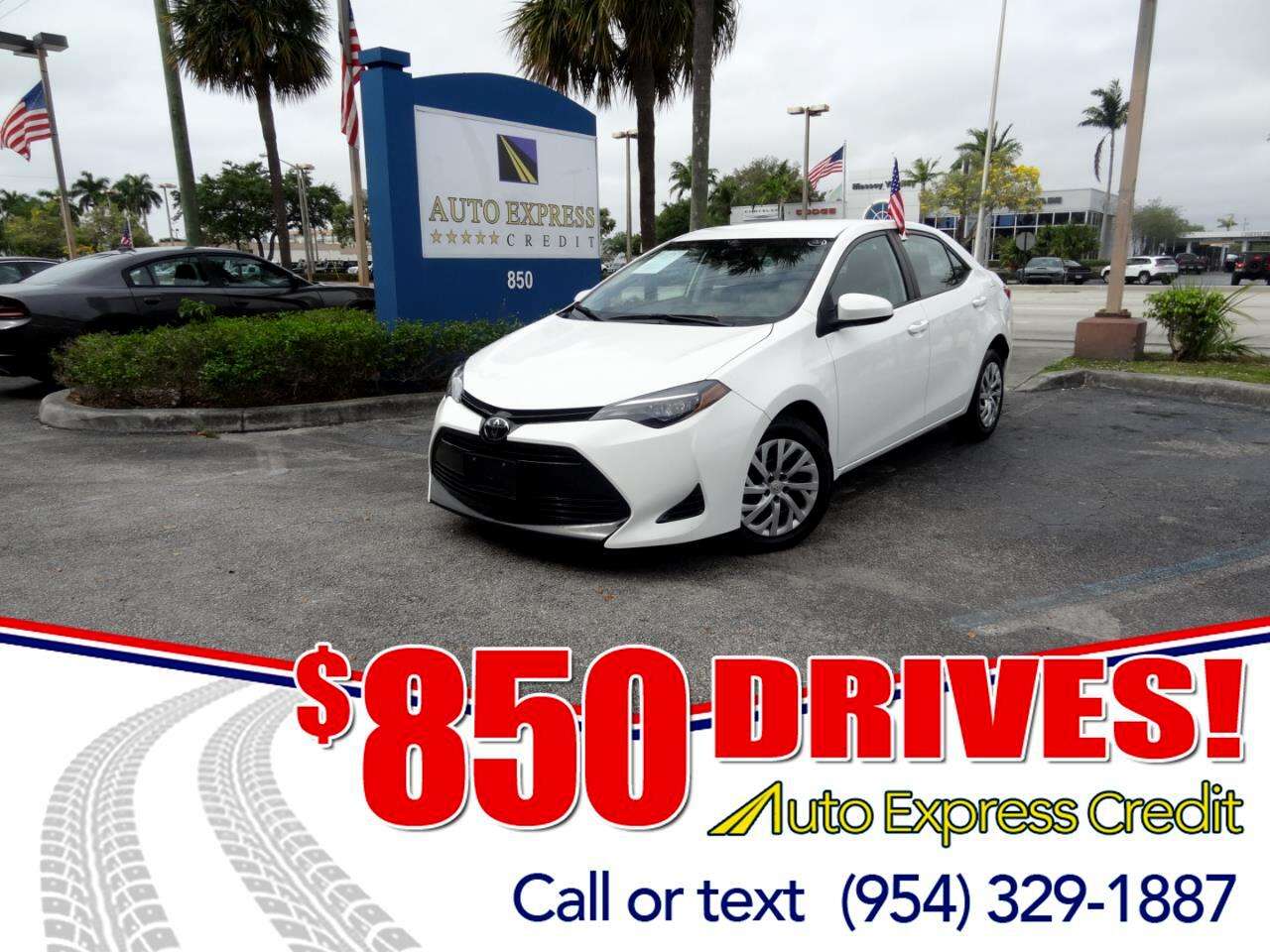 Used 2017 Toyota Corolla For Sale In Plantation FL 33317 Auto Express Credit