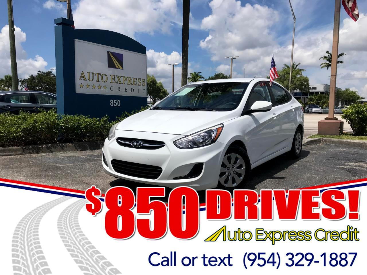 Used 2017 Hyundai Accent SE 4 Door 6A For Sale In Plantation FL