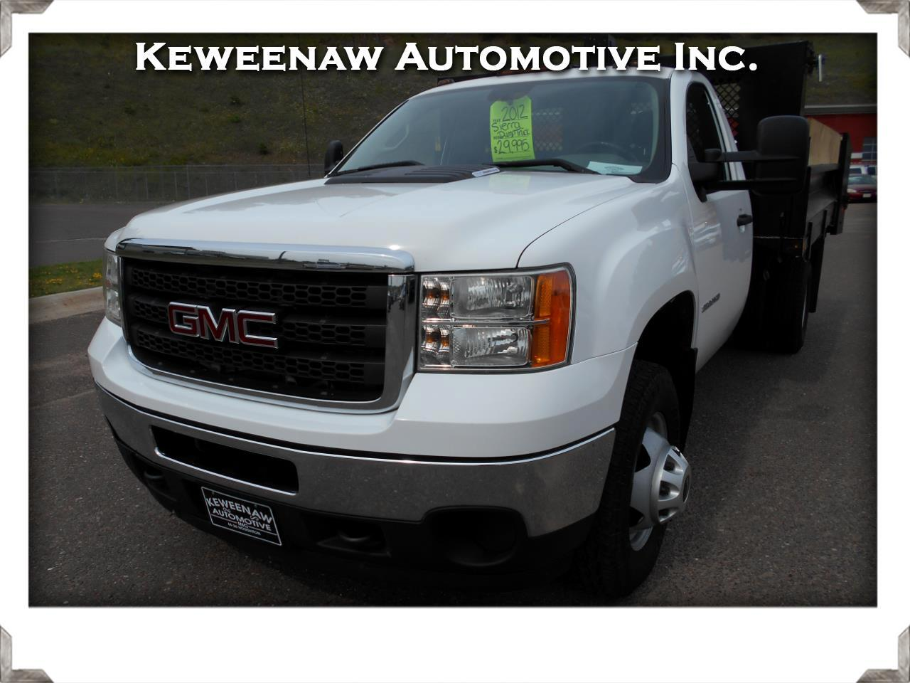 2012 GMC Sierra 3500HD 4WD WT With Dump