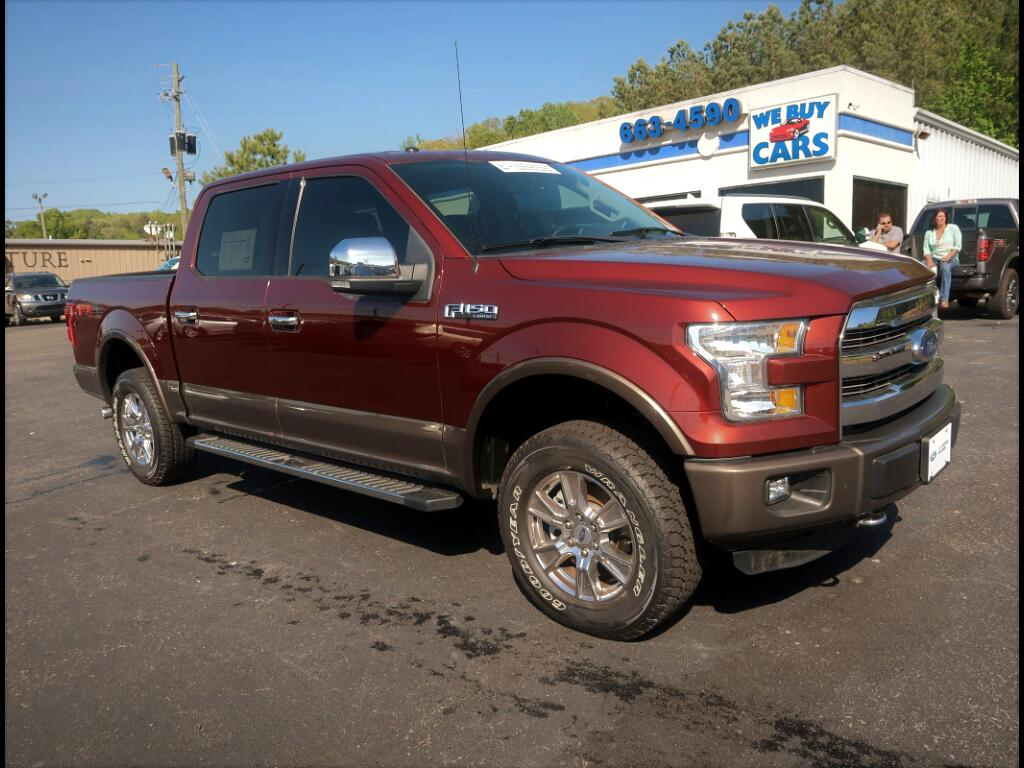 "2015 Ford F-150 SuperCrew Crew Cab 139"" Lariat 4WD"
