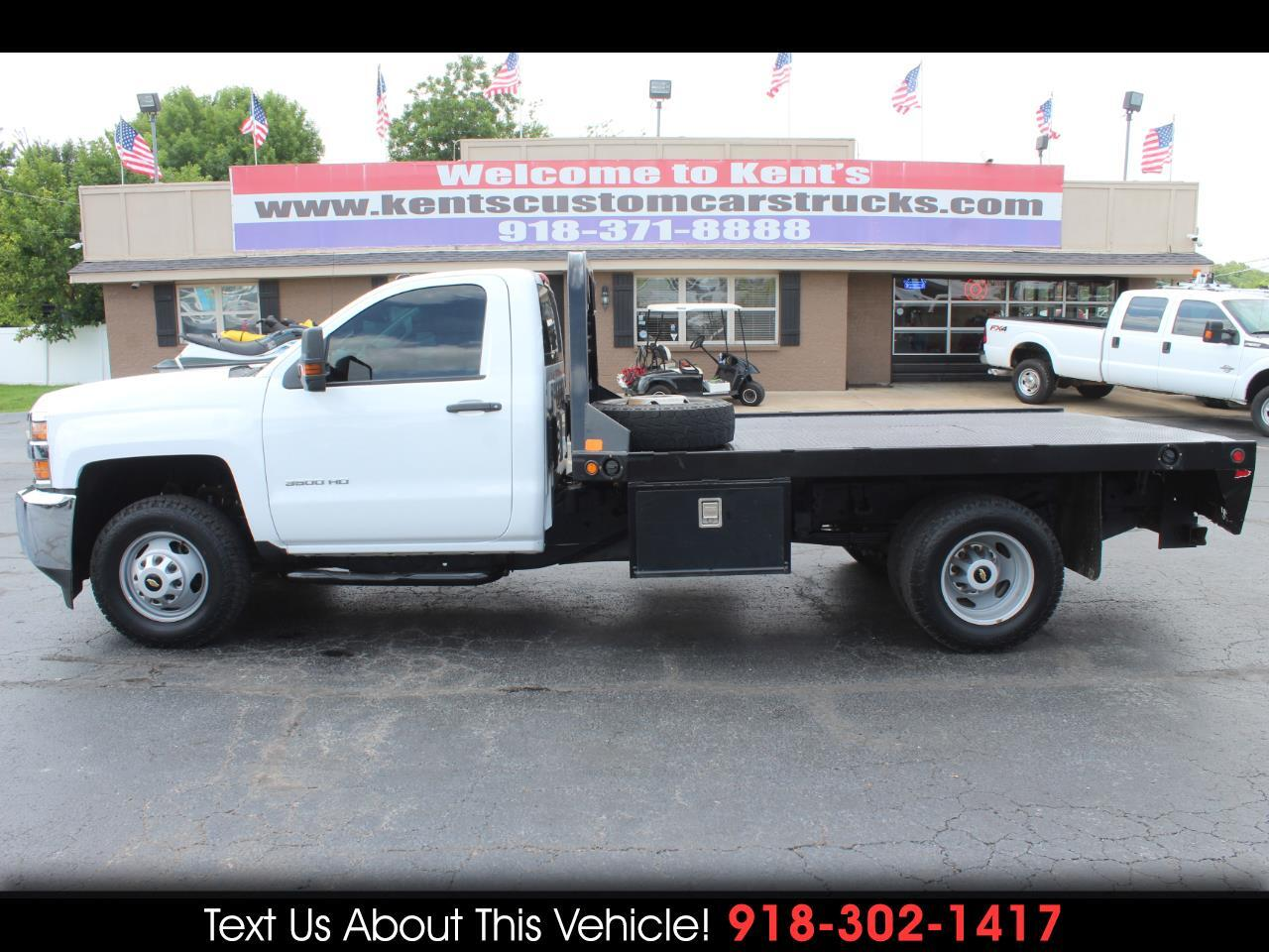 2015 Chevrolet Silverado 3500HD Work Truck Regular Cab 4WD DRW Flatbed