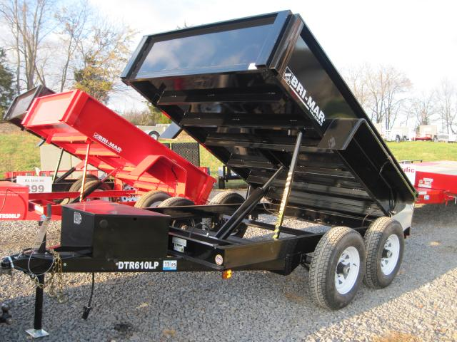 2019 Bri-Mar Low Profile Dump Trailer 6x10 10k-$127 for 48 months