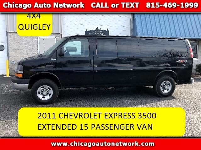 2011 Chevrolet Express LT 3500 EXTENDED QUIGLEY 4X4