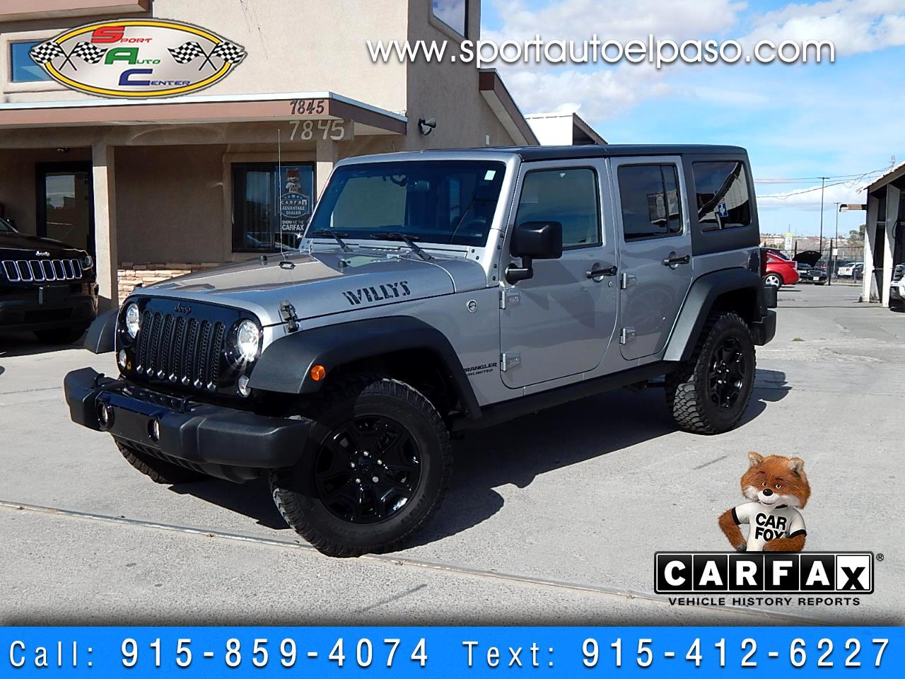 2016 Jeep Wrangler Unlimited Willys Wheeler 4WD