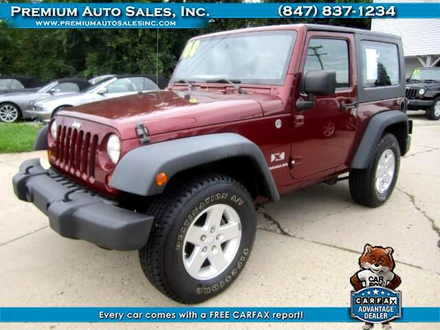2008 Jeep Wrangler X 4WD WITH HARD TOP AUTO