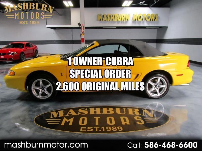 Ford Mustang Cobra Convertible 1998