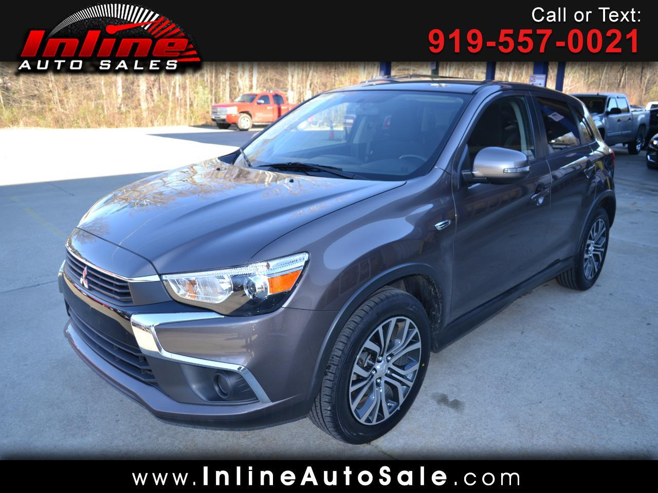 used 2017 mitsubishi outlander sport es 2 0 cvt for sale in fuquay varina nc 27526 inline auto sales. Black Bedroom Furniture Sets. Home Design Ideas