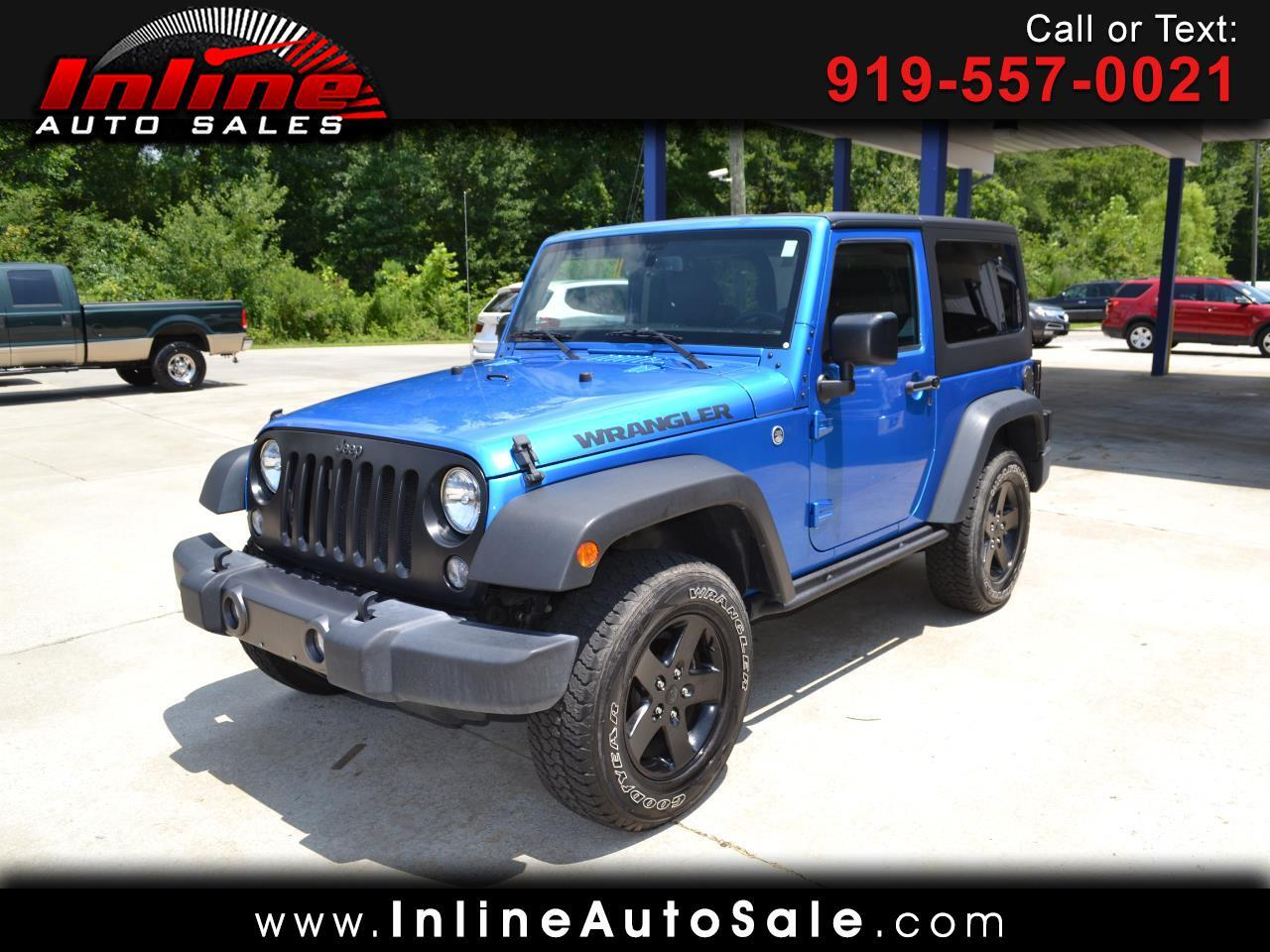 2016 Jeep Wrangler 4WD 2dr Black Bear *Ltd Avail*