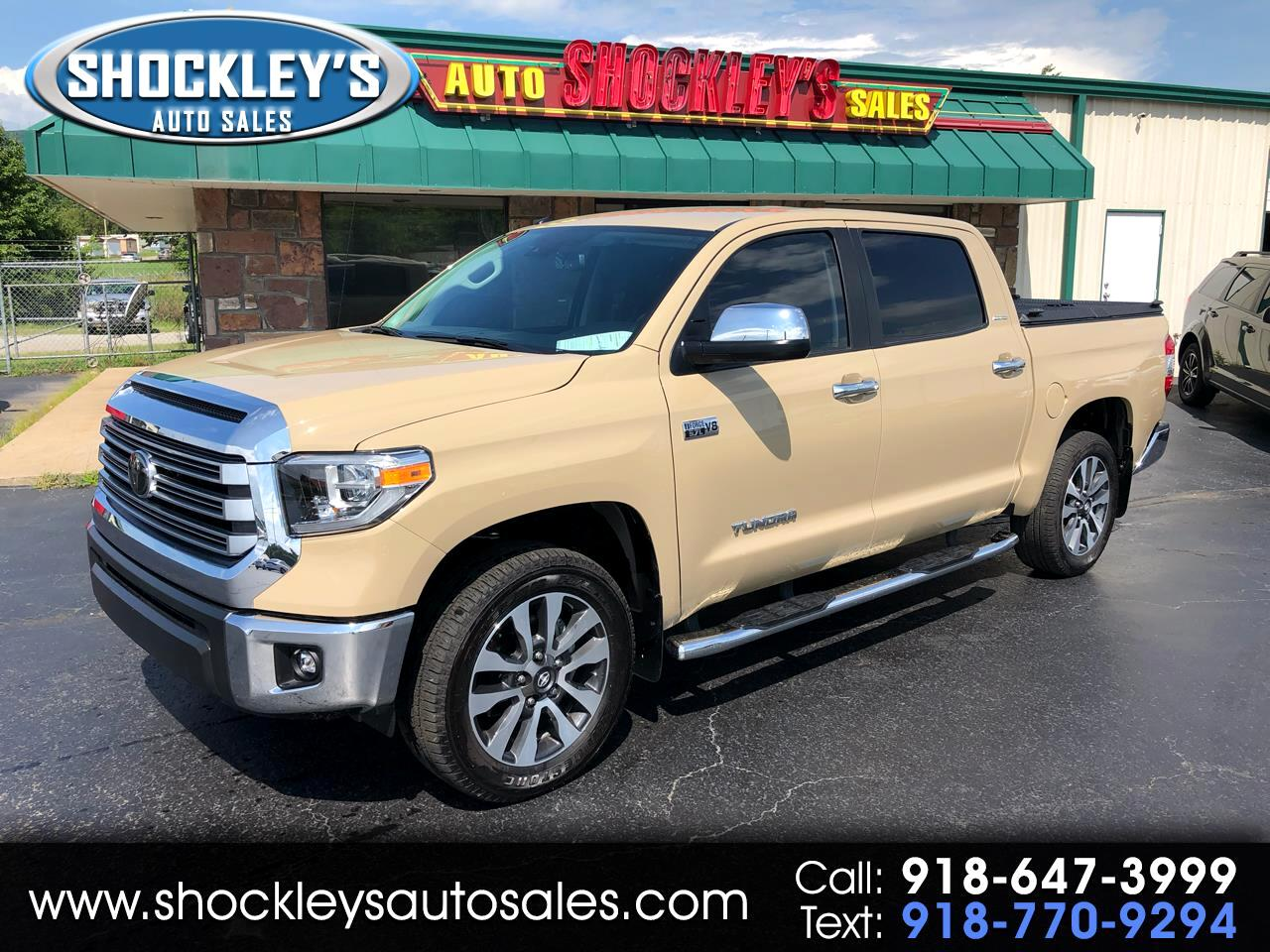 2018 Toyota Tundra 4WD Limited CrewMax 5.5' Bed 5.7L FFV (Natl)