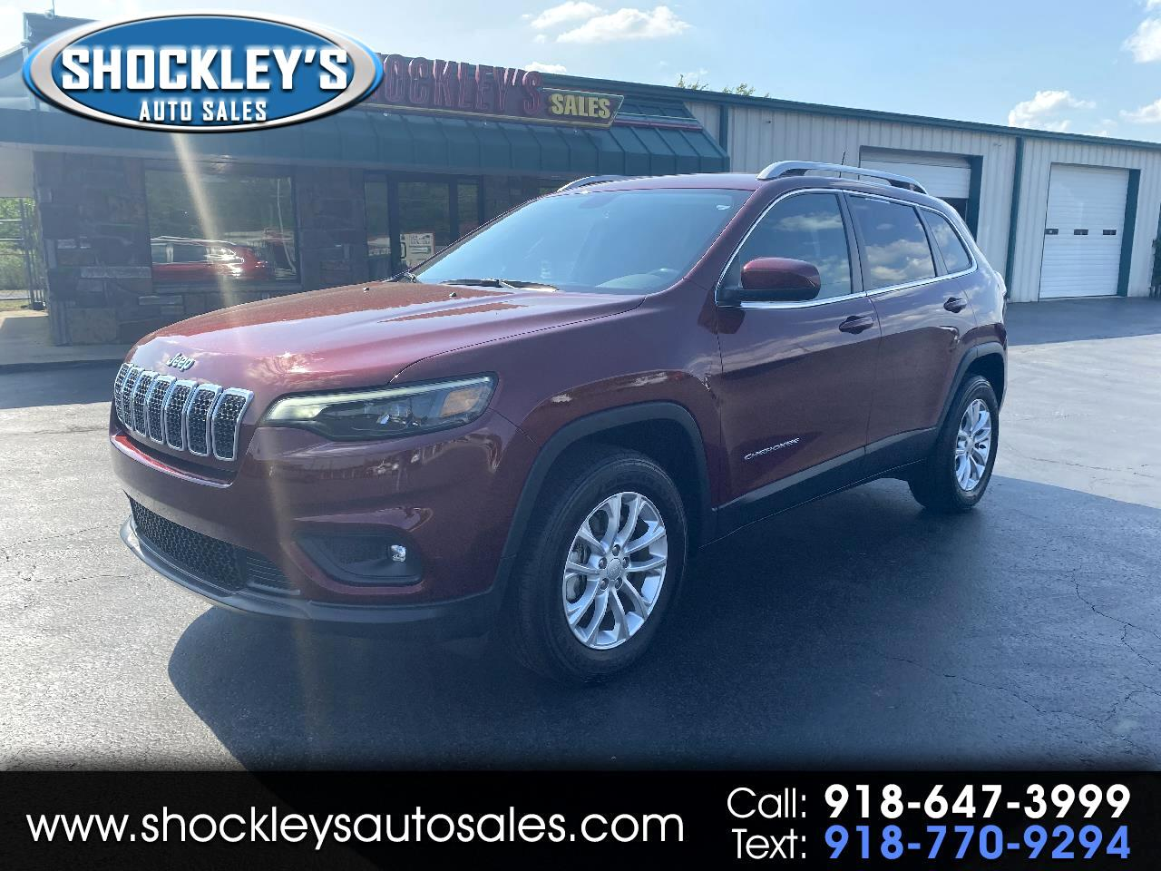 used 2019 jeep cherokee latitude 4x4 for sale in poteau ok 74953 shockley s auto sales shockley s auto sales
