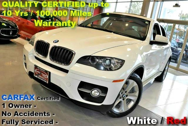 2014 BMW X6 xDrive35i - WHITE / RED INT - CARFAX Certified 1 O