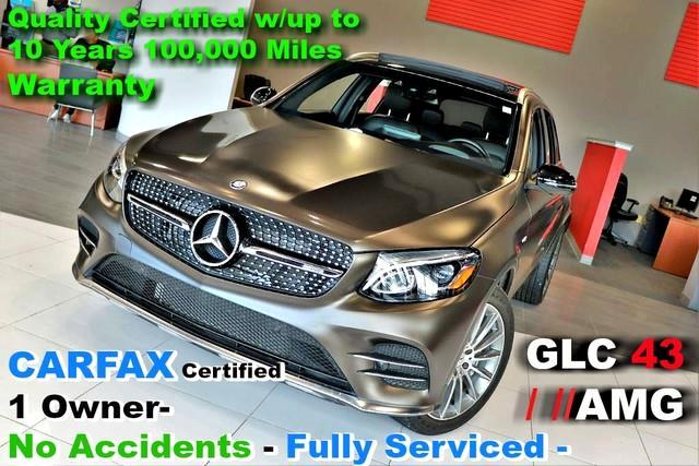 2017 Mercedes-Benz GLC-Class AMG GLC 43 Designo - CARFAX Certified 1 Owner- No