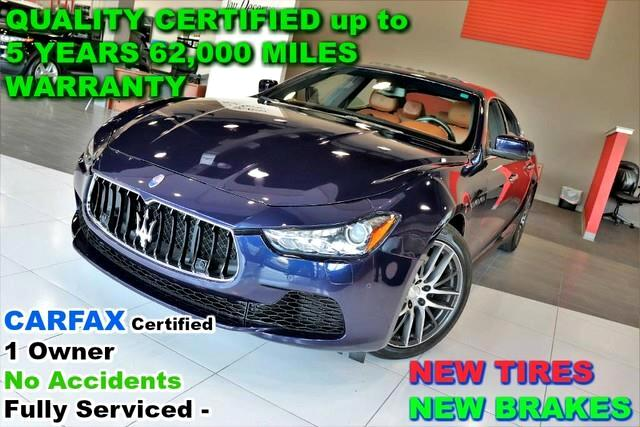 2015 Maserati Ghibli S Q4-CARFAX Certified 1 Owner No Accidents Fully S