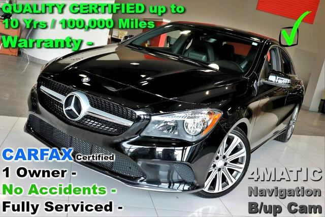 2018 Mercedes-Benz CLA-Class CLA 250 4MATIC - CARFAX Certified 1 Owner - No Acc