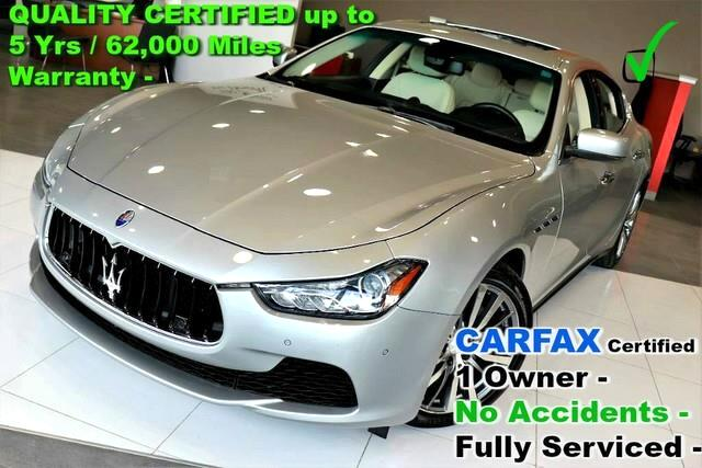 2015 Maserati Ghibli S Q4 AWD - CARFAX Certified 1 Owner - No Accidents