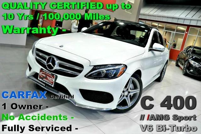 2015 Mercedes-Benz C-Class C 400 AMG Sport  - V6 Bi-Turbo Engine - 4MATIC - C
