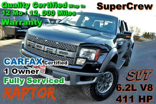 2011 Ford F-150 SVT Raptor 4WD Super Crew - CARFAX Certified 1 Own