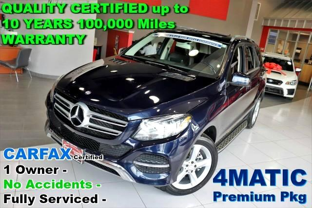 2016 Mercedes-Benz GLE-Class GLE 350 - 4MATIC - CARFAX Certified 1 Owner - No A
