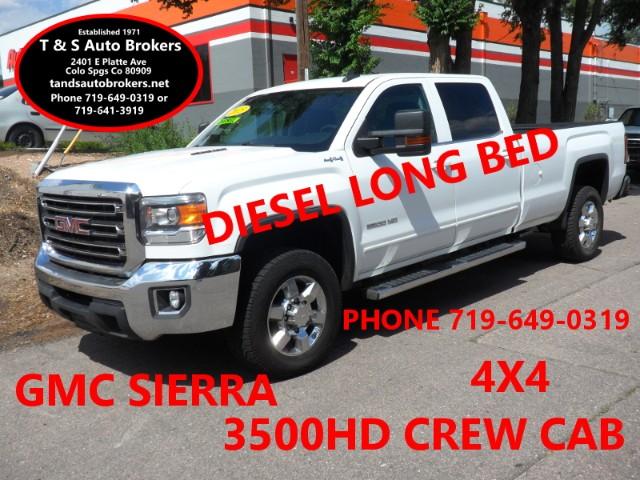 2015 GMC Sierra 3500HD DIESEL 4X4 LONG BED CREW CAB