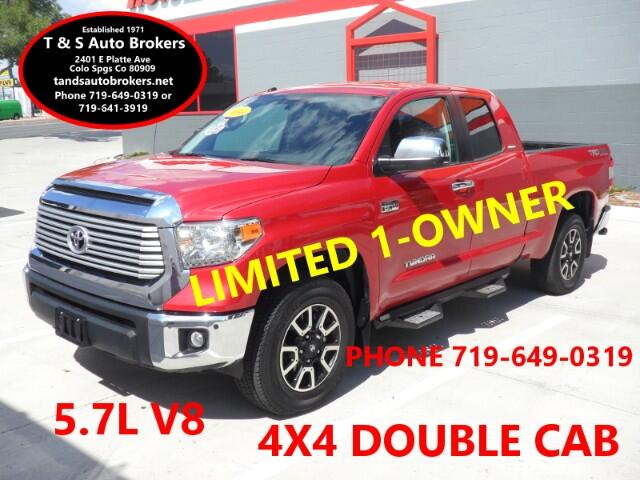 2014 Toyota Tundra 1-OWNER LIMITED 4X4 DOUBLE CAB 5.7L
