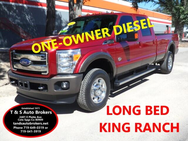 2015 Ford F-350 SD 1-OWNER DIESEL KING RANCH LONG BED