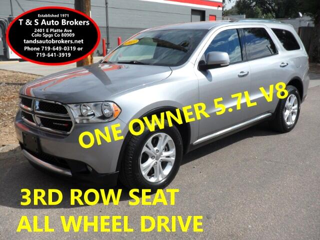 2013 Dodge Durango ONE OWNER ALL WHEEL DRIVE 3RD ROW SEAT