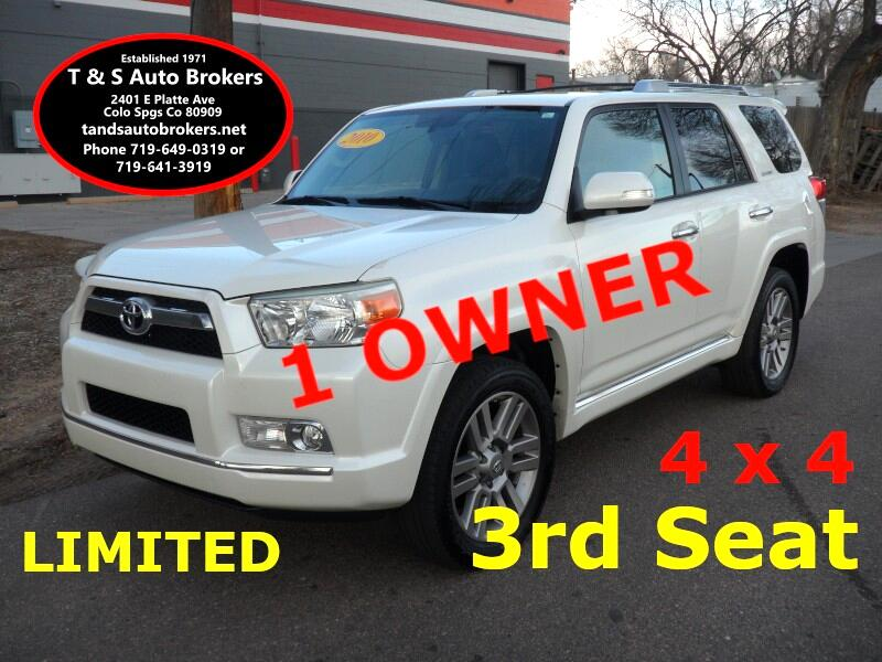 2010 Toyota 4Runner 1 Owner Limited 4x4 3rd Seat