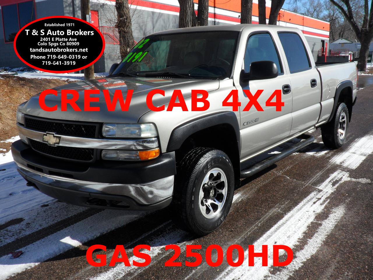 2002 Chevrolet Silverado 2500HD 6.0L V8 GAS CREW CAB 4X4