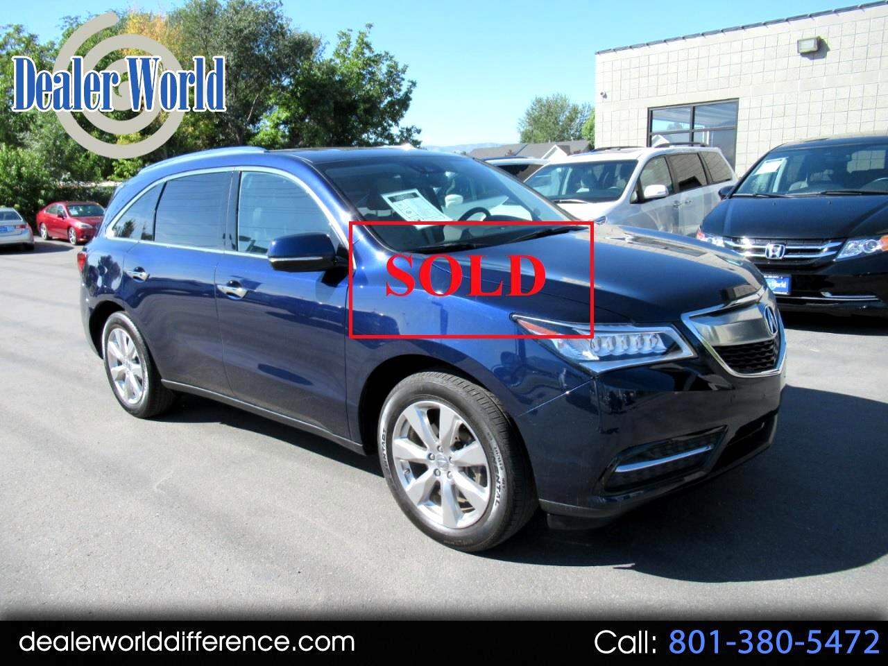 2016 Acura MDX 4WD 4dr Tech/Pwr Tail Gate