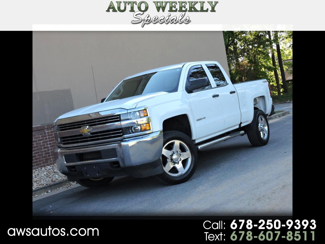 "2016 Chevrolet Silverado 2500HD 4WD Double Cab 144.2"" Work Truck"
