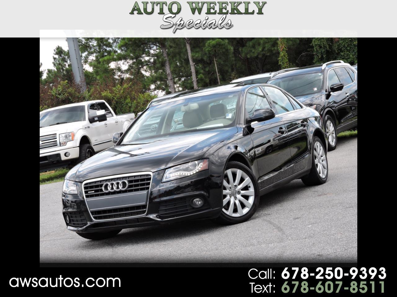 2011 Audi A4 4dr Sdn Auto quattro 2.0T Premium  Plus