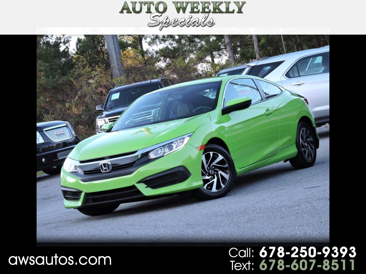 2016 Honda Civic Coupe 2dr CVT LX