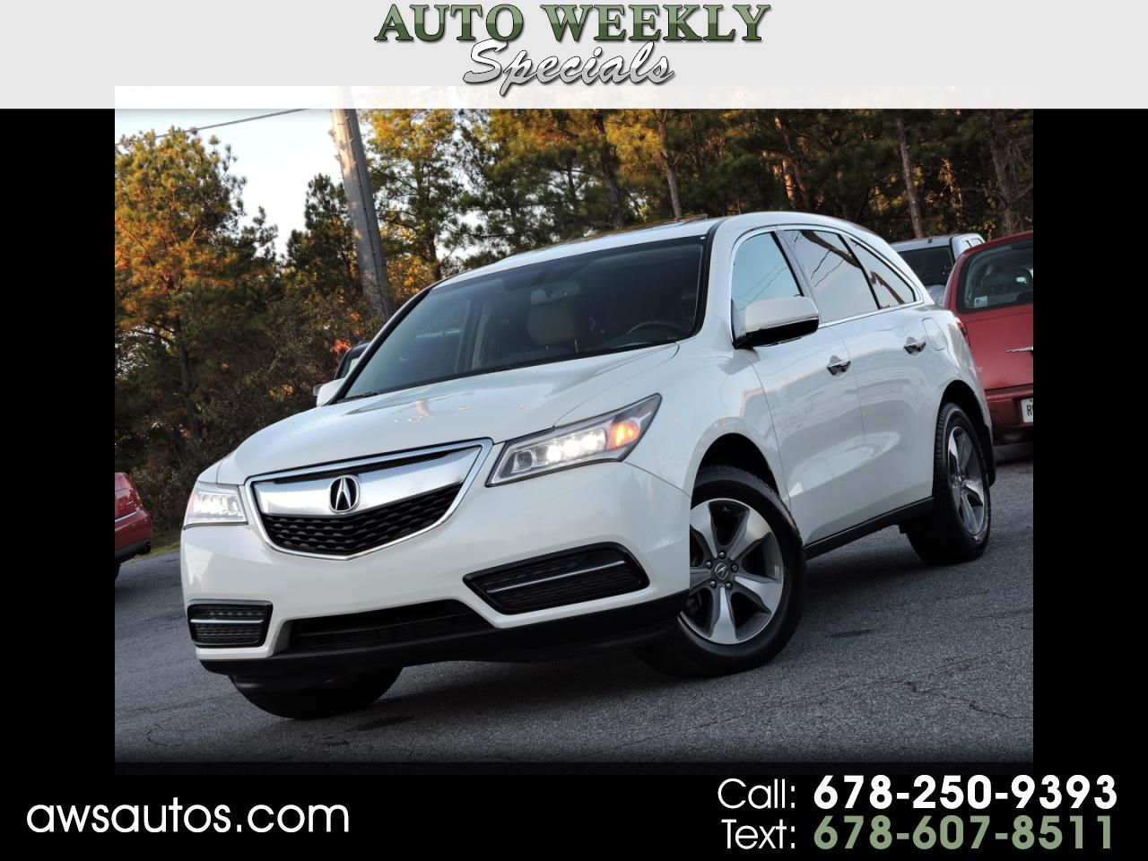 Acura MDX FWD 4dr w/Advance 2014