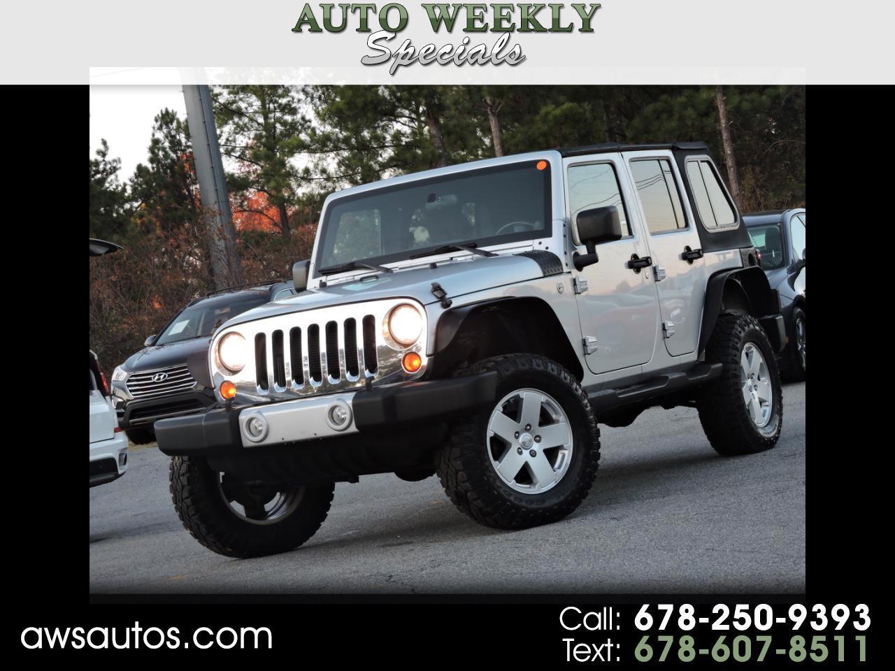 2012 Jeep Wrangler Unlimited 4WD 4dr Sahara