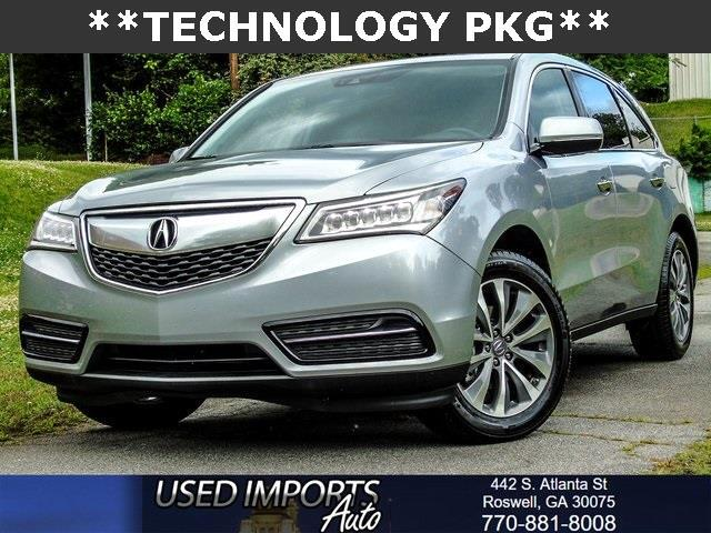 2016 Acura MDX 9-Spd AT w/ Tech & AcuraWatch Plus