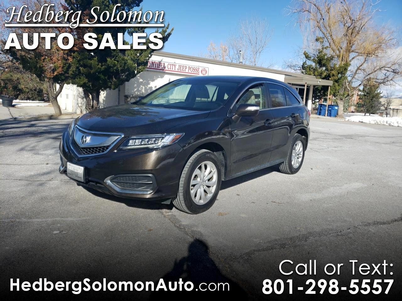 2016 Acura RDX AWD 4dr Tech/AcuraWatch Plus Pkg