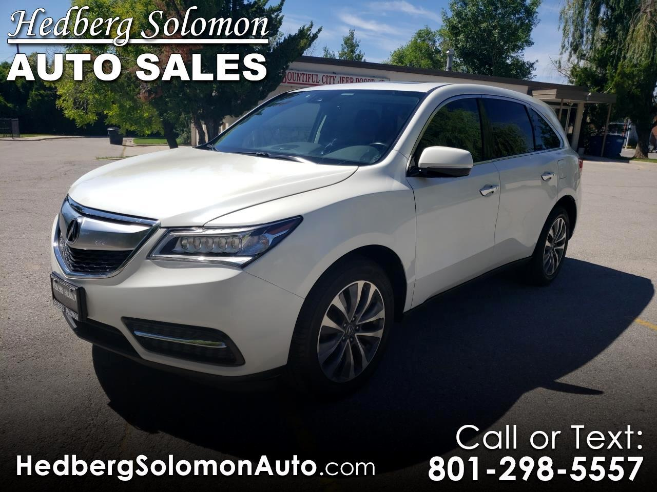 2016 Acura MDX SH-AWD 4dr w/Tech/Entertainment/AcuraWatch Plus