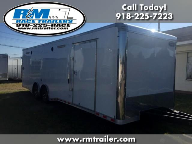 2018 Continental Cargo Value Hauler Wedge 28FT ENCLOSED RACE TRAILER
