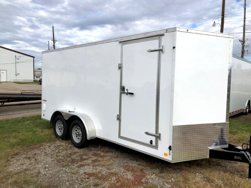2019 Cargo Mate Econo Hauler Wedge ENCLOSED TRAILER 7X16