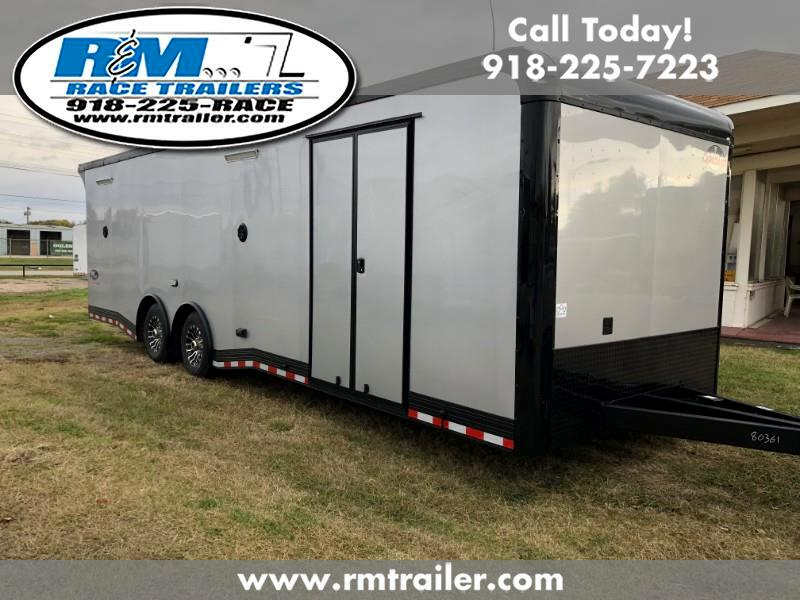 2019 Cargo Mate Eliminator 28FT ENCLOSED RACE TRAILER