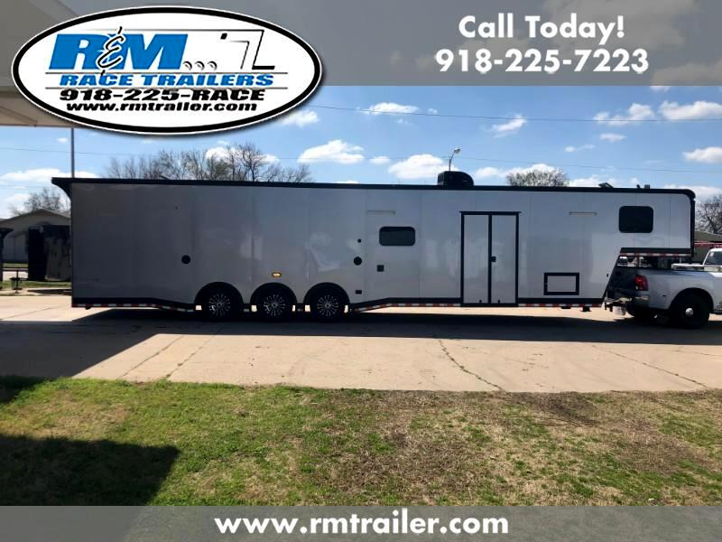 2019 Cargo Mate Eliminator 44ft ENCLOSED RACE TRAILER WITH BATHROOM AND SHOWE