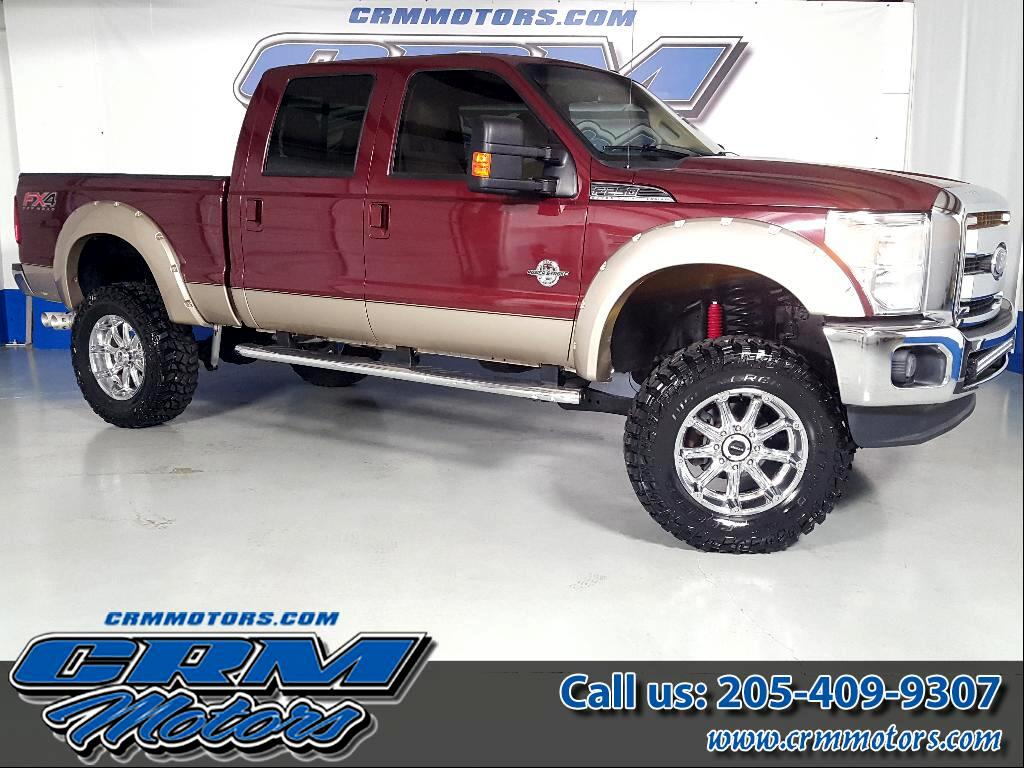 2012 Ford F-250 SD LARIAT CREW CAB 4WD FX4 LIFTED ON 37 IN TIRES!